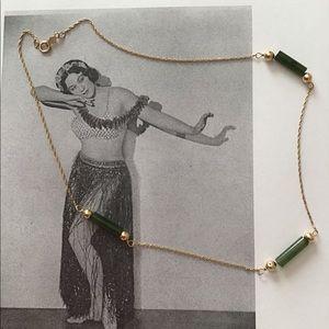14kt & Jade vintage necklace